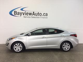 Used 2015 Hyundai Elantra GL- 1.8L|HEATED SEATS|BLUETOOTH|A/C|CRUISE! for sale in Belleville, ON