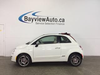 Used 2013 Fiat 500 LOUNGE- 6 SPD|CONVERTIBLE|HTD LTHR|AC|CRUISE! for sale in Belleville, ON