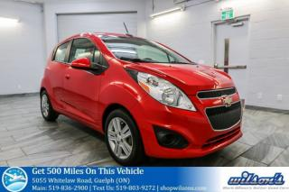 Used 2013 Chevrolet Spark LS HATCHBACK! POWER WINDOWS! REAR SPOILER! ALLOYS! CERTIFIED! for sale in Guelph, ON