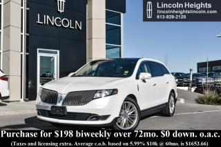 Used 2014 Lincoln MKT 3.5L W/ ECOBOOST AWD - NAV - BLIND SPOT MONITOR - PANORAMIC VISTA ROOF - CLASS II TRAILER TOW for sale in Ottawa, ON