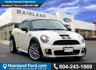 Used 2013 MINI Cooper Coupe John Cooper Works LOCAL, LOW KM'S, NO ACCIDENTS for sale in Surrey, BC