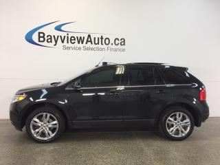 Used 2014 Ford Edge LTD- AWD|REM STRT|PANOROOF|HTD LTHR|NAV|BLIS|SONY! for sale in Belleville, ON
