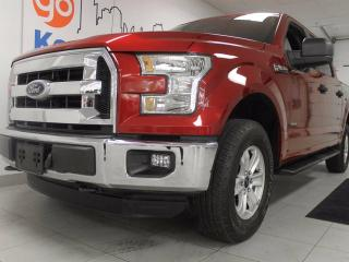 Used 2015 Ford F-150 XLT 3.5L V6 4x4 ecoboost with extra room and a stylish candy red for sale in Edmonton, AB