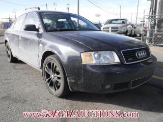 Used 2004 Audi A6 BASE 4D SEDAN QTRO 3.0L for sale in Calgary, AB