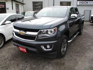 Used 2015 Chevrolet Colorado LOADED LT MODEL 5 PASSENGER 3.6L - DOHC.. CREW CAB.. SHORT BOX.. LEATHER.. HEATED SEATS.. TOUCH SCREEN DISPLAY.. BACK-UP CAMERA for sale in Bradford, ON