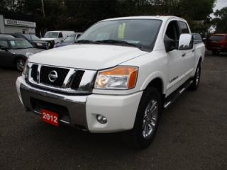 Used 2012 Nissan Titan LOADED SV MODEL 5 PASSENGER 5.6L - V8.. 4X4.. CREW CAB.. SHORTY.. BLUETOOTH.. SUNROOF.. LEATHER.. HEATED SEATS.. for sale in Bradford, ON