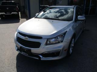 Used 2015 Chevrolet Cruze LOADED 2-LT MODEL 5 PASSENGER 1.4L - TURBO.. LEATHER.. HEATED SEATS.. BLUETOOTH.. NAVIGATION.. BACK-UP CAMERA.. for sale in Bradford, ON