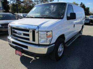 Used 2013 Ford E250 CARGO MOVING SUPER DUTY MODEL 2 PASSENGER 4.6L - V8.. ADVANCE TRAC.. FLEX FUEL.. AUX INPUT.. AIR CONDITIONING.. MIDDLE DIVIDER.. for sale in Bradford, ON