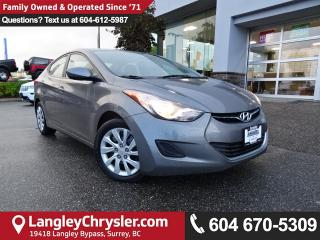 Used 2013 Hyundai Elantra GL *ACCIDENT FREE*ONE OWNER*LOCAL BC CAR* for sale in Surrey, BC