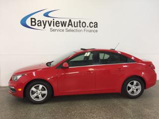 Used 2015 Chevrolet Cruze LT- TURBO|ALLOYS|ROOF|HTD LTHR|PIONEER|MY LINK! for sale in Belleville, ON