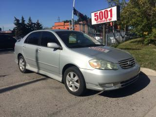 Used 2003 Toyota Corolla 143KM,SHIPPERS SPECIAL $2400 for sale in North York, ON