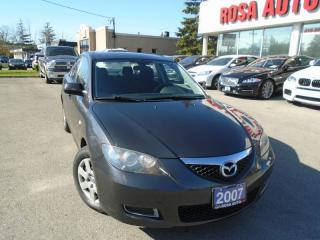 Used 2007 Mazda MAZDA3 GX LOW KM NO ACCIDENTS NEW BRAKES AND 4 NEW TIRES for sale in Oakville, ON