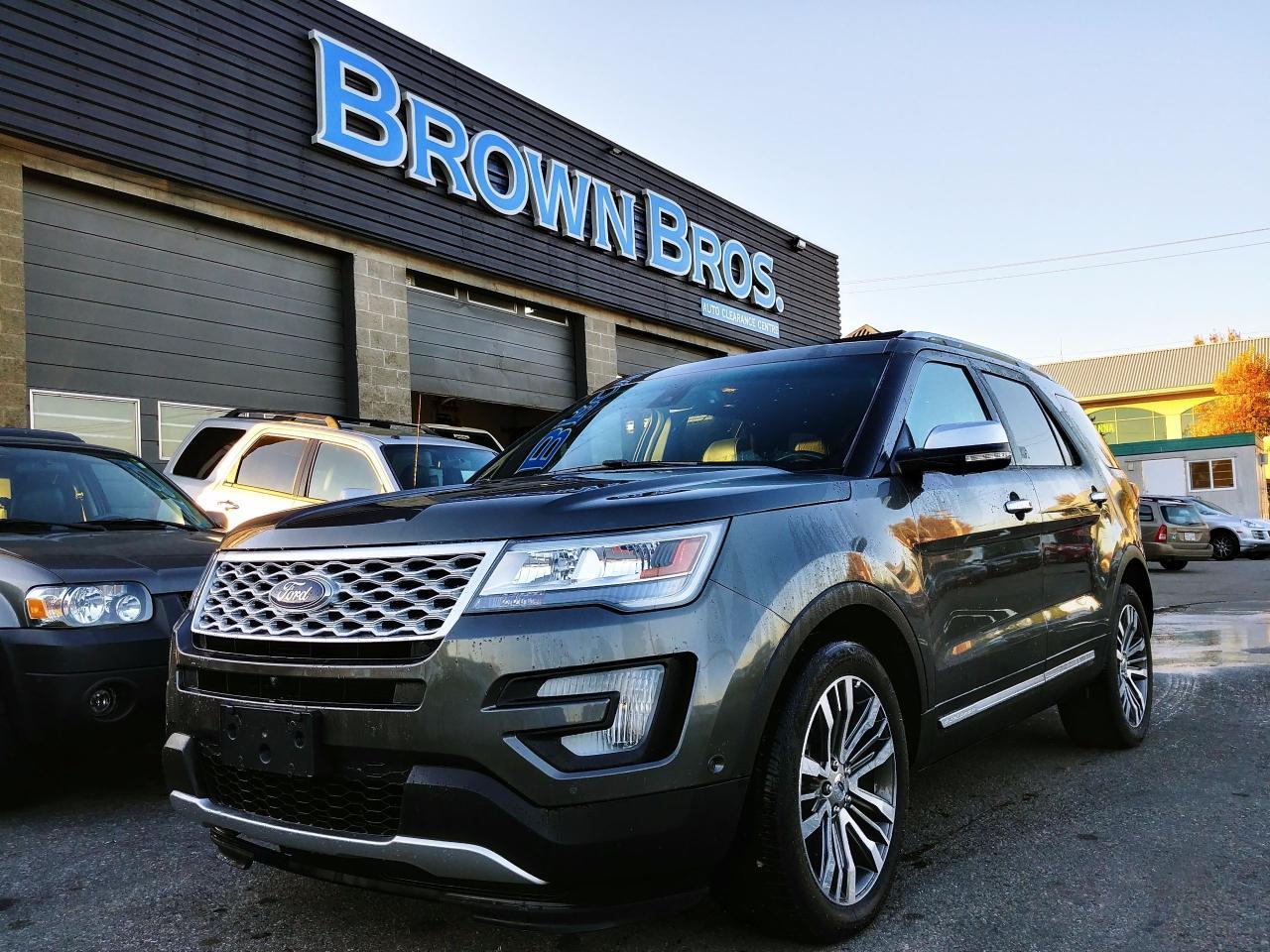 2017 Ford Explorer Platinum, navigation, local, no accidents, leather