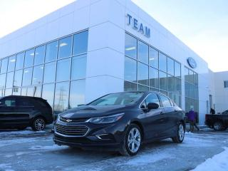 Used 2017 Chevrolet Cruze PREMIER, ACCIDENT FREE, HEATED STEERING, BLUETOOTH, HEATED FRONT SEATS, REAR CAMERA, KEYLESS ENTRY, LTHER, FWD for sale in Edmonton, AB