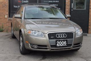 Used 2006 Audi A4 2.0T Quattro AWD *CERTIFIED, WARRANTY* for sale in Scarborough, ON