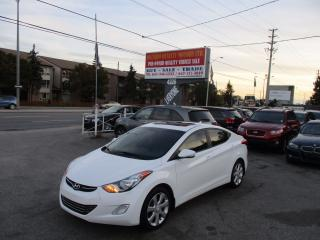 Used 2012 Hyundai Elantra Limited w/Navi,leather,sunroof fully loded!!!!!!!! for sale in Scarborough, ON