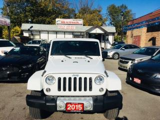 Used 2015 Jeep Wrangler SAHARA UNLIMITED/4X4/NEW BRAKES/NO ACCIDENT for sale in Brampton, ON