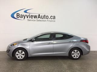 Used 2016 Hyundai Elantra - 1.8L! AUTO! ECO MODE! A/C! LOW KM'S! for sale in Belleville, ON