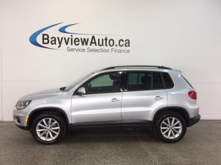 Used 2017 Volkswagen Tiguan WOLFSBURG- 4MOTION|PUSH BTN STRT|HTD LTHR|REV CAM! for sale in Belleville, ON