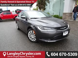 Used 2016 Chrysler 200 LX *ACCIDENT FREE*ONE OWNER*LOCAL BC CAR* for sale in Surrey, BC