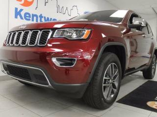 Used 2018 Jeep Grand Cherokee Limited- Sunroof, heated power leather seats, heated seats in the back, heated steering wheel, back up cam for sale in Edmonton, AB
