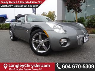 Used 2007 Pontiac Solstice Base *ACCIDENT FREE*LOCAL BC SPORTS CAR* for sale in Surrey, BC