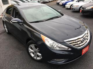 Used 2011 Hyundai Sonata LIMITED/AUTO/LEATHER/SUNROOF/LOADED/ALLOYS/V.CLEAN for sale in Scarborough, ON