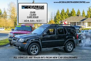 Used 2003 Nissan Xterra SC Supercharged, Local Truck, Black + Black, Low K for sale in Surrey, BC