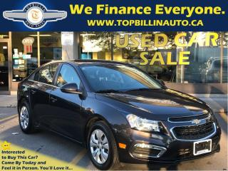 Used 2015 Chevrolet Cruze LT Backup Cam, Bluetooth, Auto, Only 33K for sale in Concord, ON