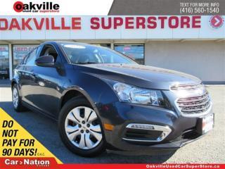 Used 2016 Chevrolet Cruze LT | P-SUNROOF | WARRANTY  | LOW KM'S | for sale in Oakville, ON