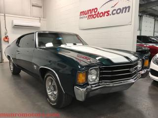 Used 1972 Chevrolet Malibu Chevelle 396 SS Cowl Induction for sale in St George Brant, ON