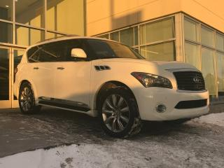 Used 2012 Infiniti QX56 DVD/HEATED AND COOLED SEATS/NAVIGATION/BLIND SPOT for sale in Edmonton, AB