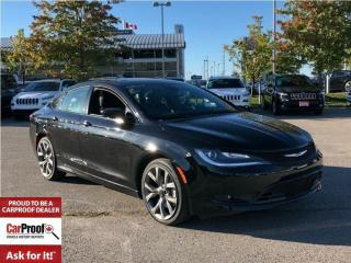 Used 2016 Chrysler 200 S**PANORAMIC SUNROOF**HEATED/VENTILATED SEATS** for sale in Mississauga, ON