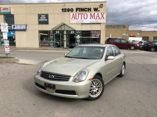 Used 2005 Infiniti G35 Leather, Sunroof, Alloy Rims, Certified for sale in North York, ON