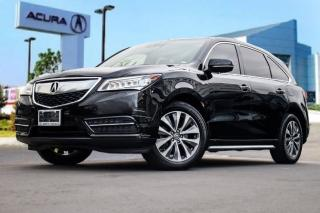 Used 2016 Acura MDX Navi Accident Free|Navigation|Bluetooth|Back-UP CA for sale in Thornhill, ON