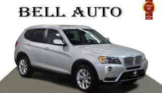 Used 2013 BMW X3 PANORAMIC SUNROOF BACKUP SENSORS HEATED STEERING for sale in North York, ON