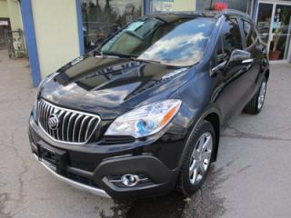 Used 2016 Buick Encore LOADED 'PREMIUM - EDITION' 5 PASSENGER 1.4L - TURBO.. AWD.. LEATHER.. HEATED SEATS.. NAVIGATION.. BACK-UP CAMERA.. POWER SUNROOF.. for sale in Bradford, ON