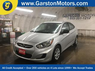 Used 2013 Hyundai Accent GL*POWER WINDOWS/LOCKS/MIRRORS*CLIMATE CONTROL*HEATED FRONT SEATS*CRUISE CONTROL*AM/FM/CD/AUX/USB*ECO MODE*TRACTION CONTROL* for sale in Cambridge, ON