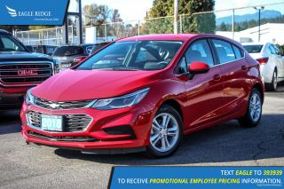 New 2018 Chevrolet Cruze LT Auto Heated Seats and Satellite Radio for sale in Port Coquitlam, BC