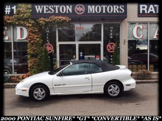 Used 2000 Pontiac Sunfire GT*CONVERTIBLE*AS IS* for sale in York, ON