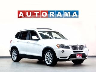Used 2013 BMW X3 NAVIGATION LEATHER SUNROOF 4WD for sale in North York, ON