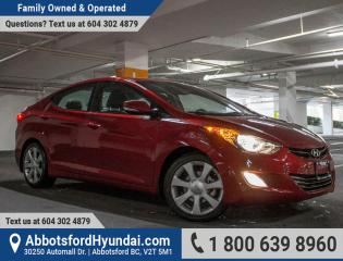 Used 2013 Hyundai Elantra Limited ONE OWNER, LOW KILOMETRES & BC OWNED for sale in Abbotsford, BC