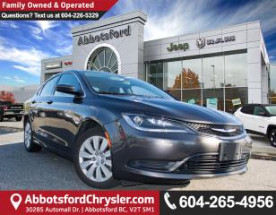 Used 2015 Chrysler 200 LX *ACCIDENT FREE* *PROXIMITY ENTRY* for sale in Abbotsford, BC
