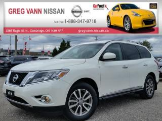 Used 2015 Nissan Pathfinder SL 4WD w/all leather,climate,3rd row seating,rear cam,heated seats,pwr hatch for sale in Cambridge, ON