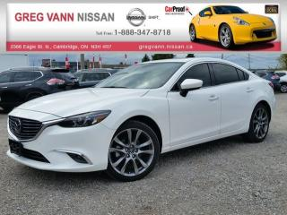 Used 2016 Mazda MAZDA6 GT w/all leather,pwr moonroof,climate control,NAV for sale in Cambridge, ON