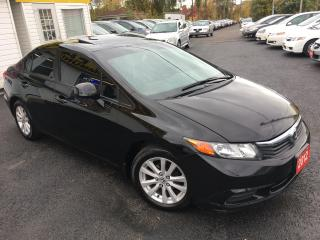 Used 2012 Honda Civic EX/AUTO/SUNROOF/ALLOYS/LOADED/CLEAN for sale in Scarborough, ON