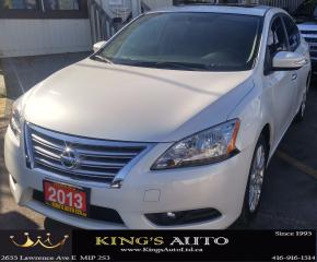 Used 2013 Nissan Sentra SL PACKAGE, SUNROOF, NAVI, LEATHER, SV for sale in Scarborough, ON