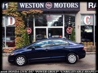 Used 2007 Honda Civic DX*POWER GROUP*UNBELIEVABLE SHAPE!!* for sale in York, ON