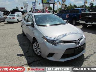 Used 2016 Toyota Corolla LE | BACKUP CAM | SAT RADIO | BLUETOOTH for sale in London, ON