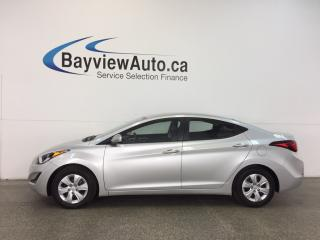 Used 2016 Hyundai Elantra L- 6 SPEED! 1.8L! A/C! PWR GROUP! BUDGET BUDDY! for sale in Belleville, ON